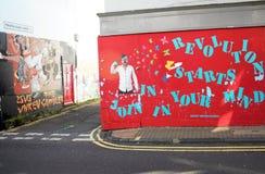 Grafittivägg i Brighton UK arkivbilder
