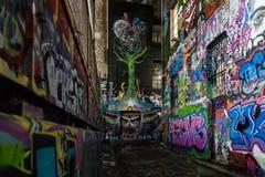 Grafittiväggar Arkivfoton