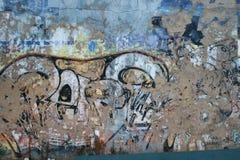 Grafittiväggbakgrund Arkivfoto