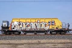 grafittivagn Arkivfoto