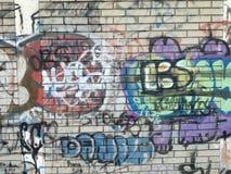 Grafitvägg royaltyfri foto