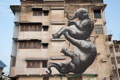 Grafity na construção Fotografia de Stock Royalty Free