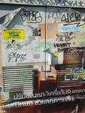 Grafity nella via della Tailandia Fotografia Stock