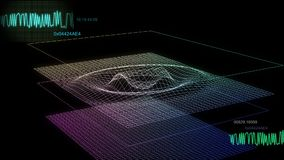 grafskärm för audio 01 Arkivbild