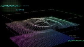 grafskärm för audio 02 Arkivfoton