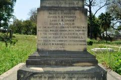 Grafsteen bij Britse Residentie Royalty-vrije Stock Fotografie