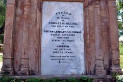 Grafsteen bij Britse Residentie Stock Foto's