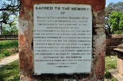 Grafsteen bij Britse Residentie Stock Afbeelding