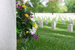 Grafsteen van de Begraafplaats van Arlington de Nationale Stock Foto