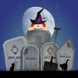 Grafstenen voor Halloween royalty-vrije illustratie