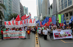 Graft and corruption protest in Manila, Philippines. Metro Manila, Philippines- October 4, 2013: Thousands of Filipinos marched in the Million People march in royalty free stock photo