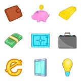 Graft icons set, cartoon style Royalty Free Stock Images