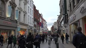 Grafton街道在都伯林 影视素材