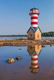 Grafton Lighthouse in Illinois Stock Photo