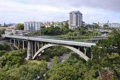 Grafton Road Bridge Auckland New Själland Fotografering för Bildbyråer