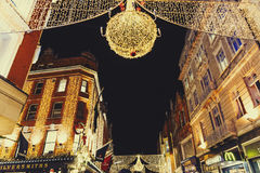 Grafton Street shopping hub in Dublin city centre with Christma Royalty Free Stock Image