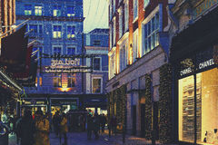 Grafton Street shopping hub in Dublin city centre with Christma Stock Photography