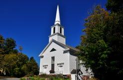 Grafton, Vermont: 1858 biel kościół Zdjęcie Royalty Free