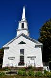 Grafton, Vermont: 1858 witte Kerk Royalty-vrije Stock Foto's