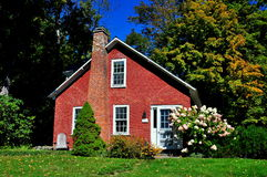 Grafton, VT: Cottage del mattone Fotografie Stock