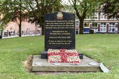 Grafzerken in hulde aan oorlogsveteranen van Birmingham stock foto