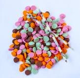 Gragea del chocolate multicolor Fotografía de archivo libre de regalías