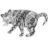 Graghic dragit klotter för katt hand Arkivbilder