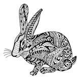 Graghic konijnhand getrokken krabbel Stock Afbeeldingen