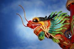 Gragon dorato in tempio cinese Fotografie Stock