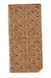 Graham cracker. A standard graham cracker isolated on white royalty free stock images