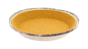 Graham Cracker Pie Crust Side View stock image