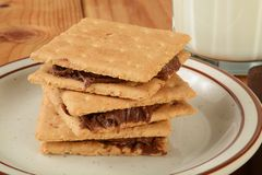 Graham crackers with frosting Stock Images