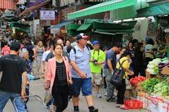 Graham Street in downtown Hong Kong Stock Image