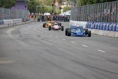 Graham Williams in einem Formel 1-Rennwagen Hesketh 308E stockbilder