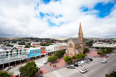 Grahamstown, south africa. Overhead view of Grahamstown, South Africa stock images