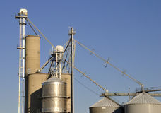 Grain 2. Local storage and commodity accumulation. Icons of the agricultural heartland Royalty Free Stock Photo