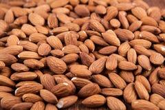 Grain almonds on close up Stock Photos