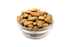 Grain almonds in a glass cup Stock Photography