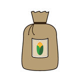 Grain bag with corn Royalty Free Stock Photography