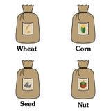 Grain bag with corn Royalty Free Stock Photos