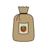 Grain bag with nuts Royalty Free Stock Photography