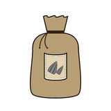 Grain bag with seeds Royalty Free Stock Images
