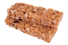 Grain bar. Healthy delicious grain bar isolate on white Stock Images
