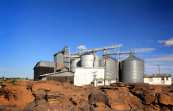 Grain Bin Complex Royalty Free Stock Photos