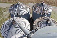 Grain Bin Roofs Stock Image