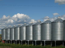 Grain bins. Royalty Free Stock Photos