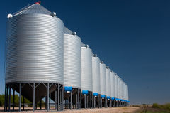 Grain Bins Stock Photography