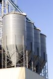 Grain Bins. Four grain bins at a farmers elevator Stock Photography