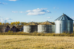 Grain Bins Royalty Free Stock Image