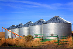Grain Bins on the Prairie Royalty Free Stock Images